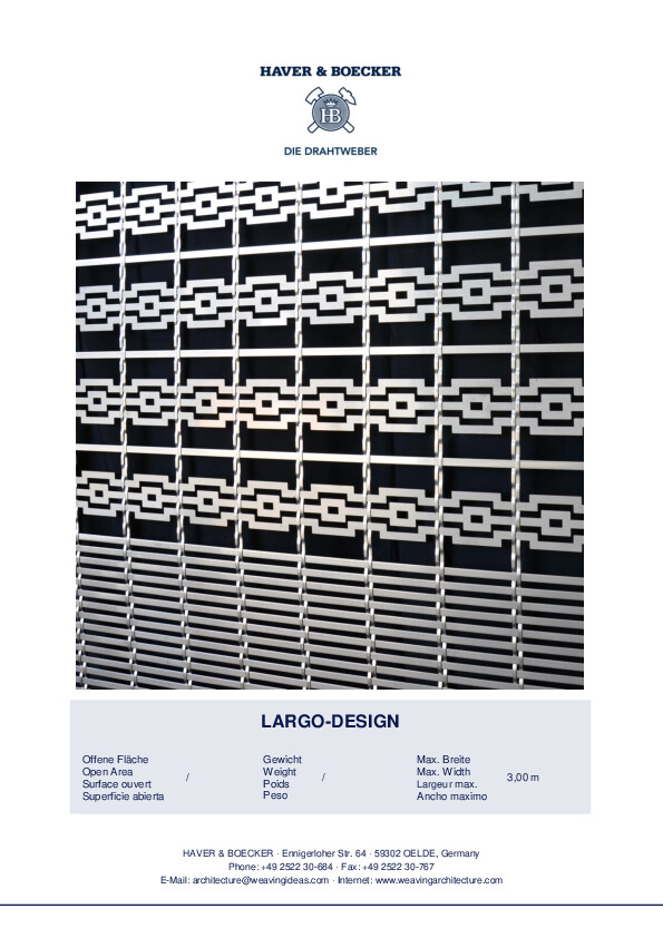 HAVER Architectural Mesh LARGO-DESIGN