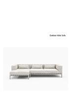 Bensen Outdoor Able Sofa product sheet
