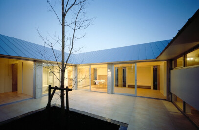 Concave Roof House