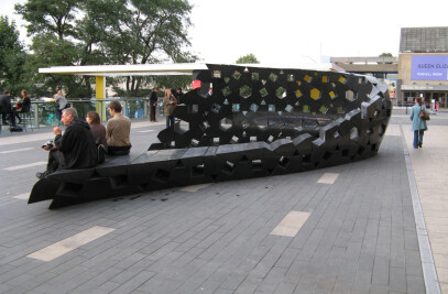 'Urban Nebula' Concrete Bench