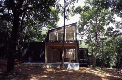 3 Chairs (Symbiosis House in a forest)