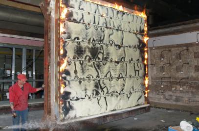 fire-resistant overhead door