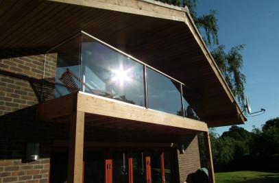 Glass railings glass balconies glass balustrades,