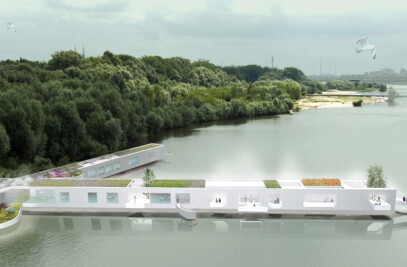 SAUNAS COMPLEX ON VISTULA RIVER IN WARSAW