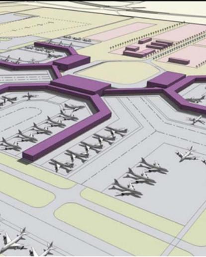 Flughafen Abu Dhabi Plan