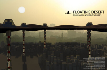 Floating desert for global nomad dwellers