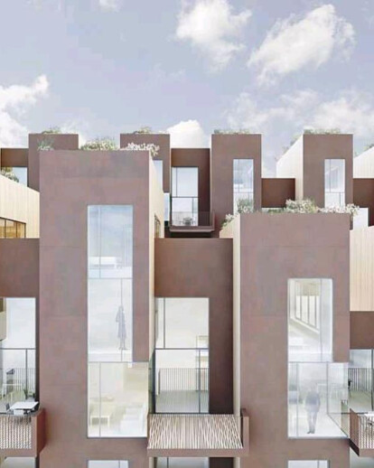 Sustainable town houses