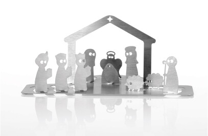 Ropo Pom Pom  (Stainless steel nativity scene)