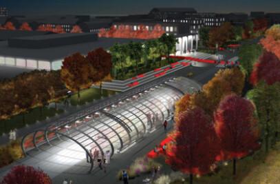 Rutgers University. Transit Hub + Plaza