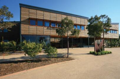 Visitor centre for royal botanic gardens