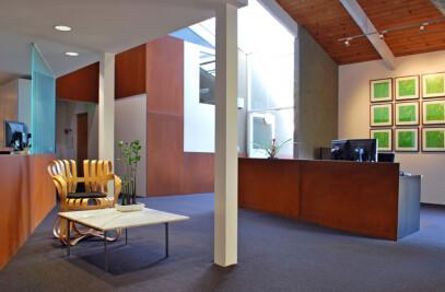 Morphing Cor-ten: Interior renovation at SWA Group's main office