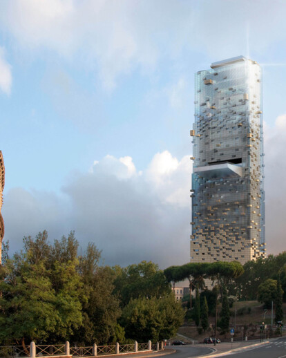 Vertical Spa in Rome for Architectum international competition