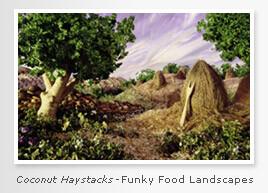 Coconut Haystacks - Funky Foodscapes