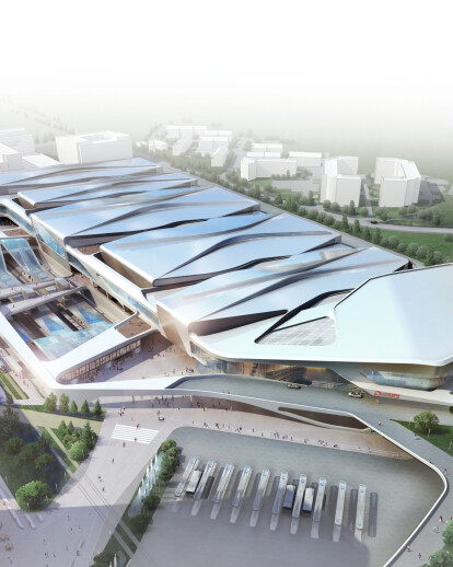 Luxexpo Exhibition Centre and Kirchberg Station