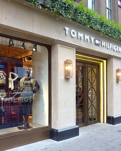 f465c21e Tommy Hilfiger Flagship Store, Brompton Road London | Metall-FX ...