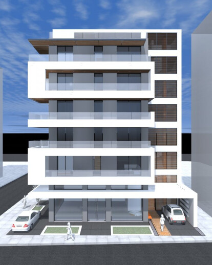 Five Storey Apartment Building In Kalamaria