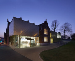 Maidstone Museum's East Wing at sunset