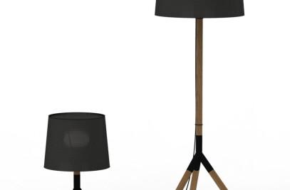 Lathe lamp white/ black
