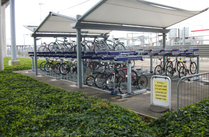 FalcoLevel two-tier cycle parking systems at Heathrow Airport!