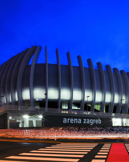 Arena Zagreb: hot water