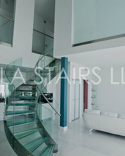 Glass Stairs for Infinity at Brickell