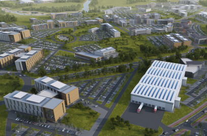 Office and logistics complex, UK