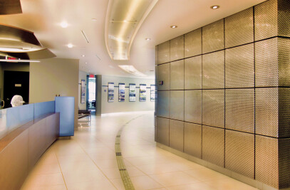 Banker Wire Mesh Adds Modern Feel to Gallery and Conference Room at IBI Group