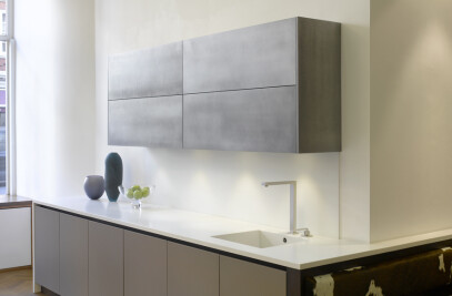 Silver And Bronze Kitchens