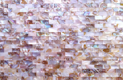 Colorful mother of pearl mosaic tiles