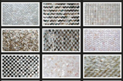 Mother of pearl mosaic tiles retail shop