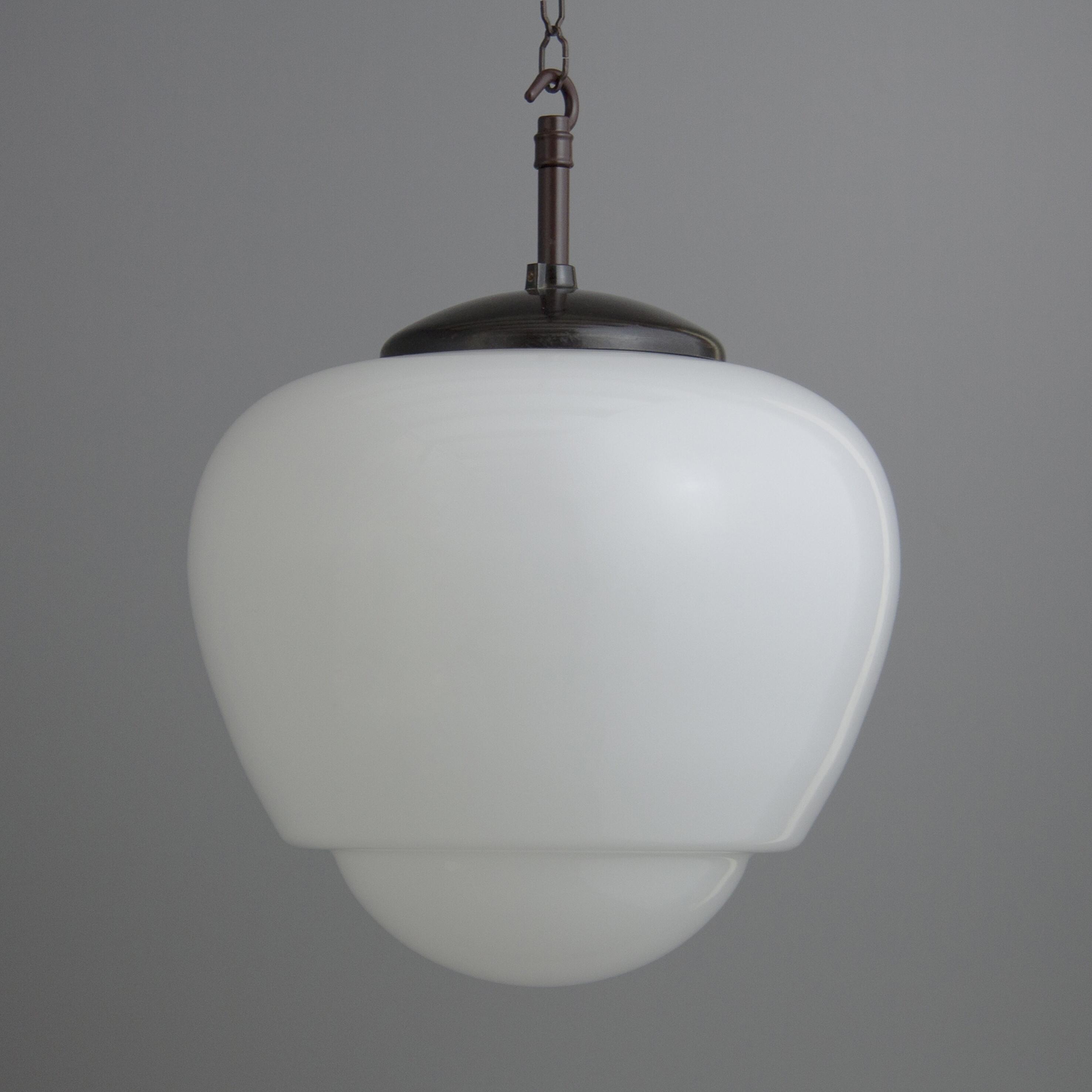 Elegant glass & bakelite teardrop pendants