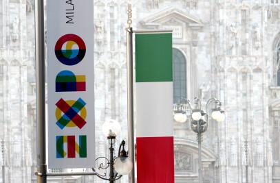 EXPO 2015: FLAGS BOULEVARD