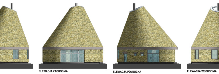 Elevations of the pavillion