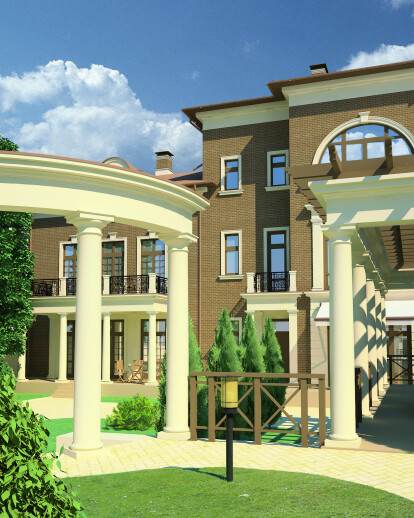 Individual apartment house in Makhachkala