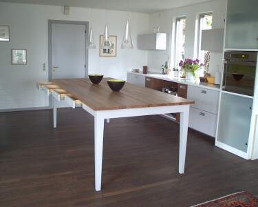 The Table - open drawers and stove/oven