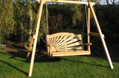 Garden Swing seat in Rising Sun design
