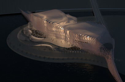 Anisotropia, a proposal for Busan Opera House