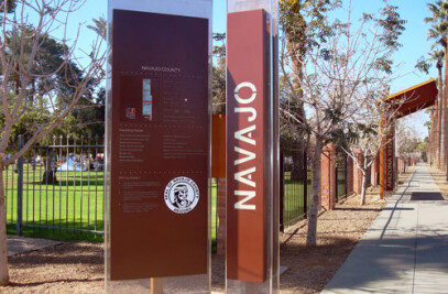 Arizona Centennial Way Celebration Signage