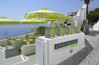 character cafe - santorini island