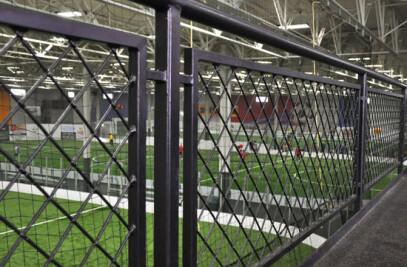 Brookfield Indoor Soccer Complex, Railing