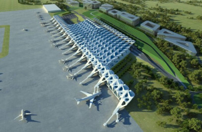 A multi runway hub airport for London