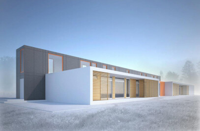 Competition for Modular Kindergarten - honorable mention