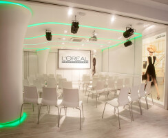 L'Oreal Academy in green