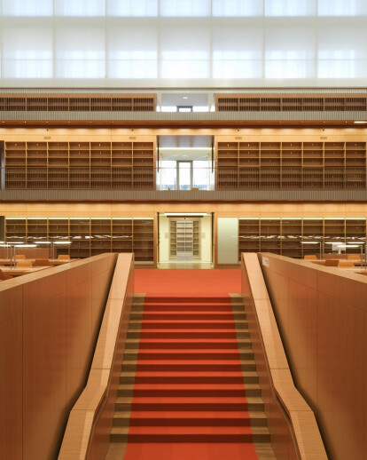 New Reading Hall of the State Library Unter den Linden in Berlin