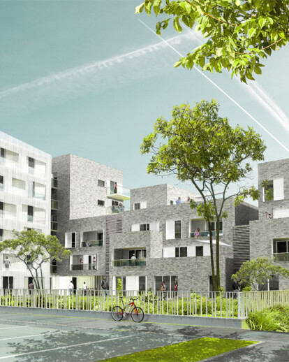 29 Dwellings - Competition 1st Prize - with Atelier Du Pont Mandataire