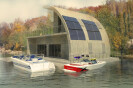 Self-Sufficient Floating House on Donau