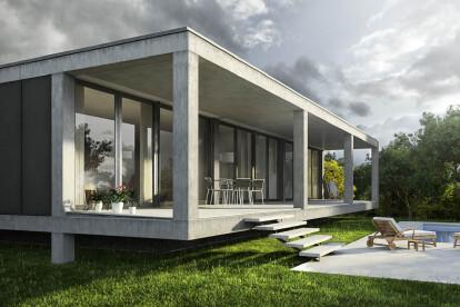 Architectural visualization house in Cala Pi