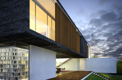 3D visualization luxury house in Mexico