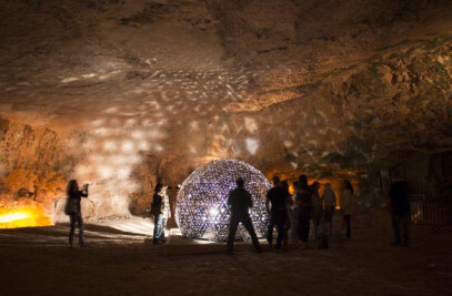 LOTUS DOME in magical cave in Jerusalem