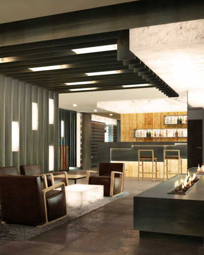 Architecture rendering of hotel in Andorra